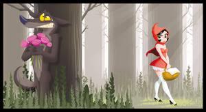 Red Riding Hood by poubelle-de-dav