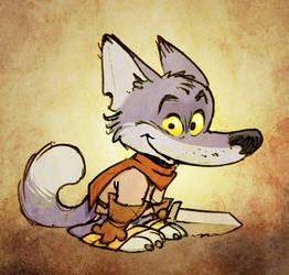 Little Blue fox by poubelle-de-dav
