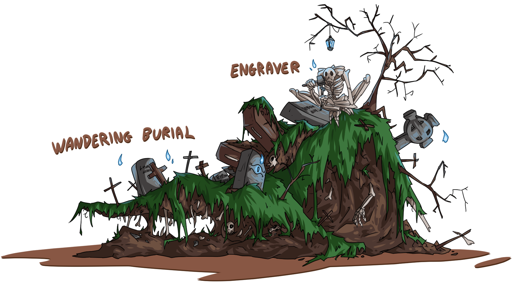 Wandering burial and Engraver by Seikame