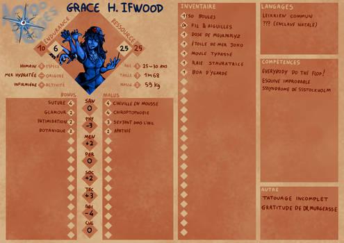 RPG character sheet mockup