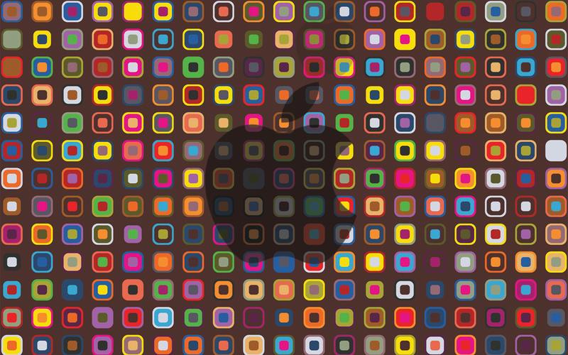 Retro Apple Wallpaper by juliawallin