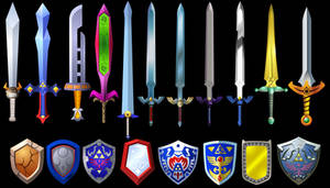 Zelda Swords and Shields 2 by Doctor-G