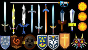 Zelda Swords and Shields 3