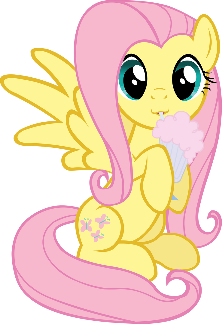 Fluttershy Milkshake by Doctor-G