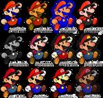 Paper Mario Colours
