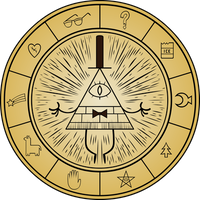 Gravity Falls - Bill Cipher Wheel