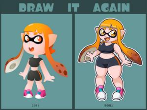 Draw it again - Inkling Girl
