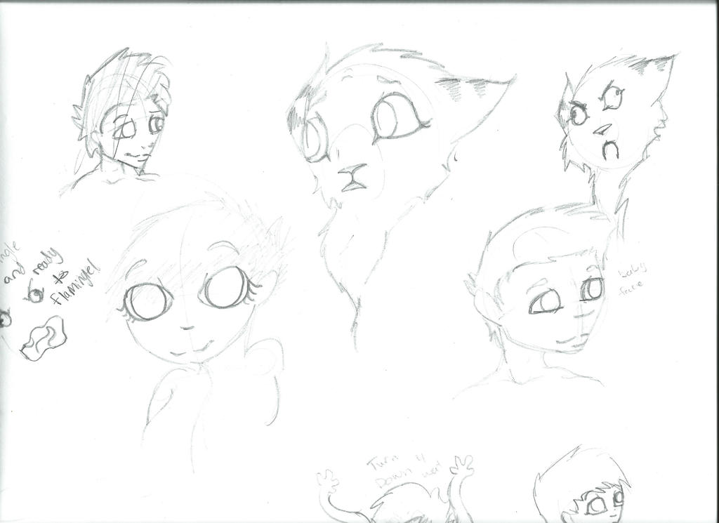 Sketch Dump #1 by AshleyBinx