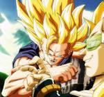 Goku SSJ3 vs Raditz SSJ