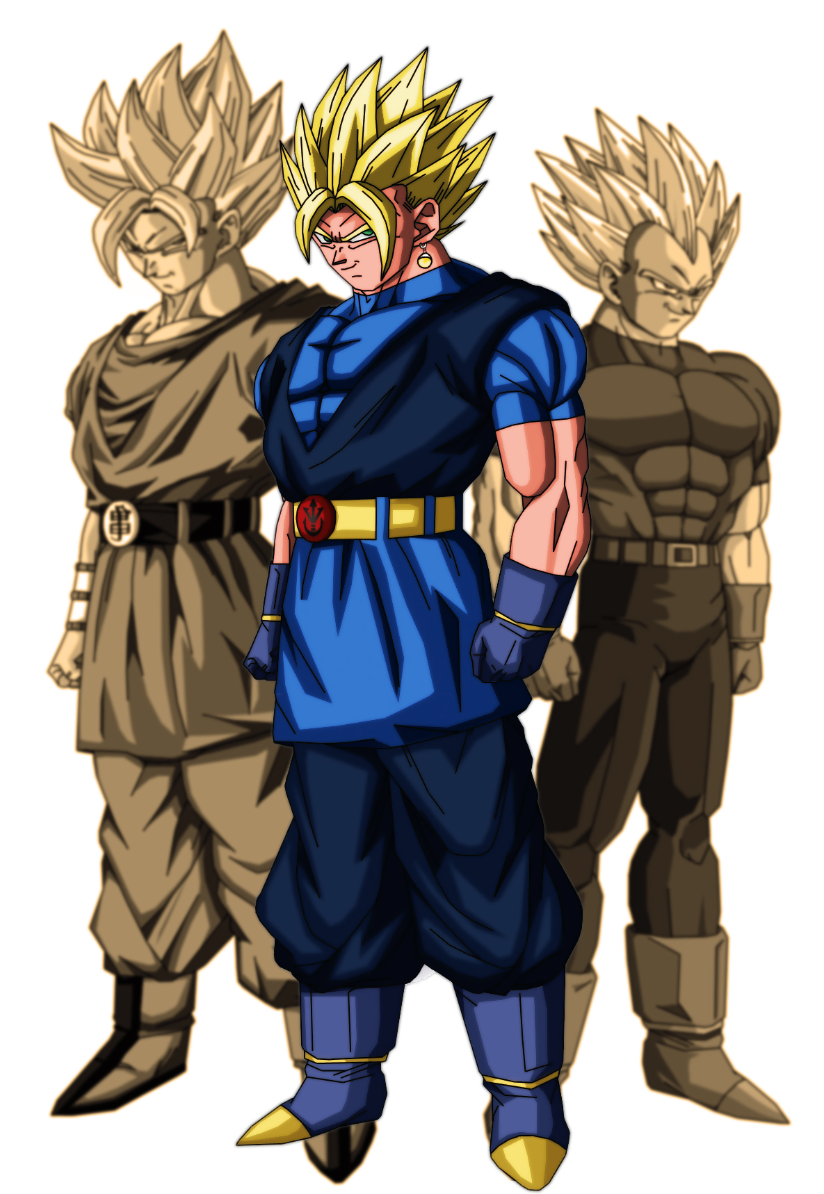 The undefeated master desenhos de anime dbz vegetto z - Dragon ball vegeto ...