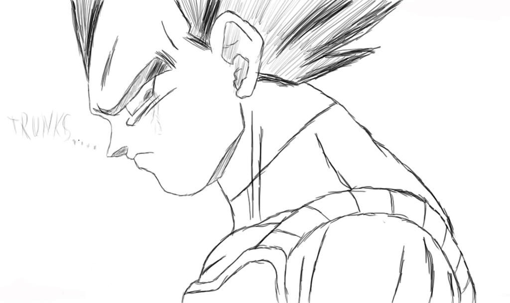 Sad Vegeta by Gothax