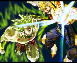 Vegetto VS Brolly by Gothax