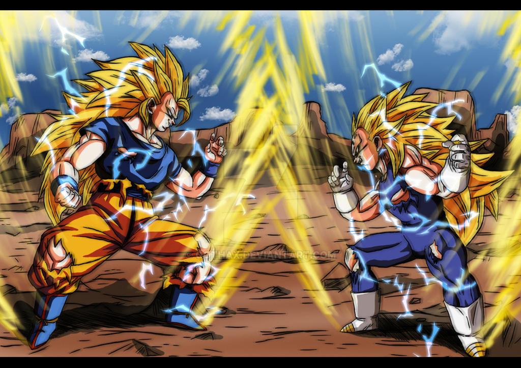 Goku Ssj4 Vs Goku Ssj3: SSJ3 VS SSJ3 By Gothax On DeviantArt