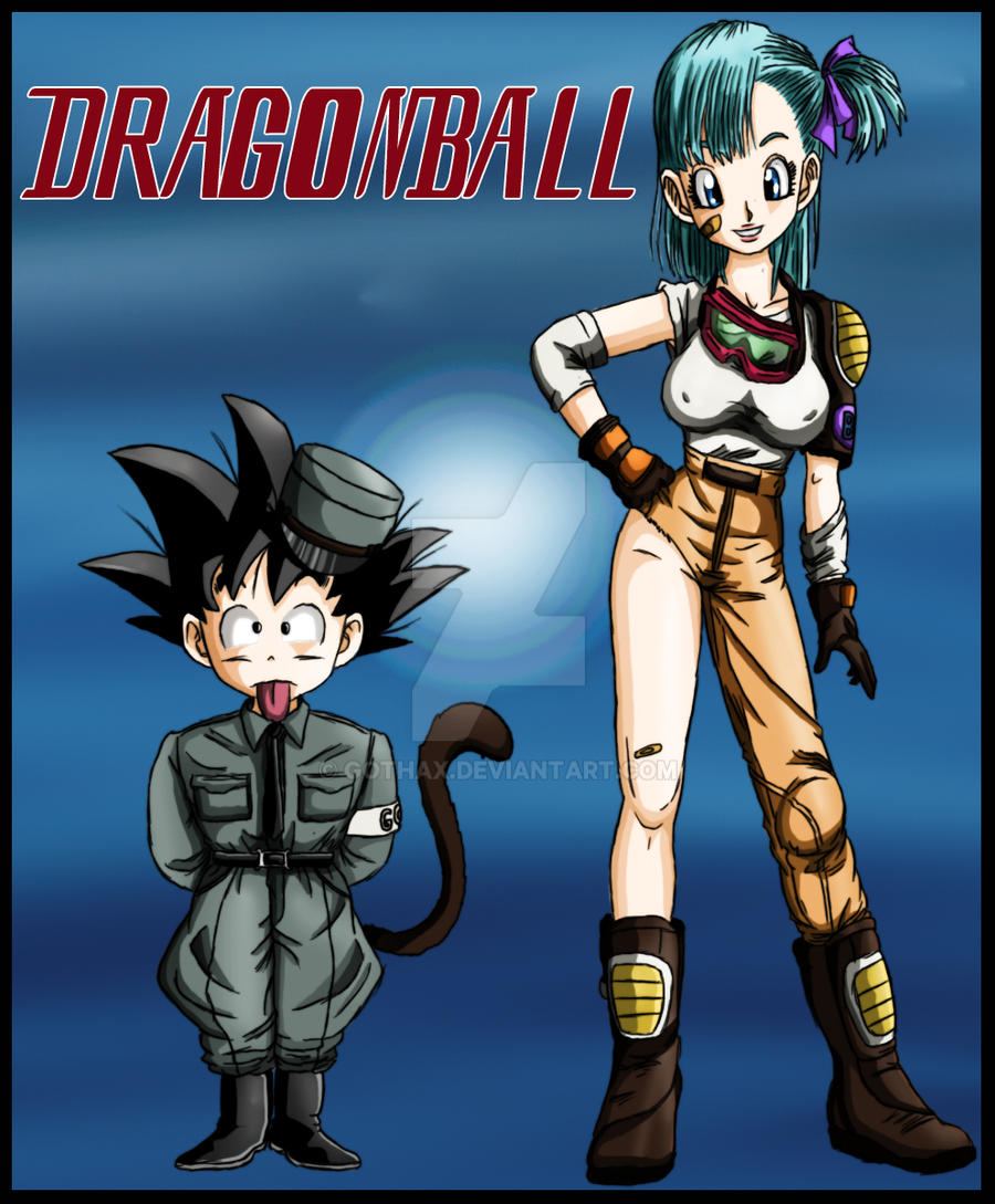 bulma and goku color by gothax on deviantart