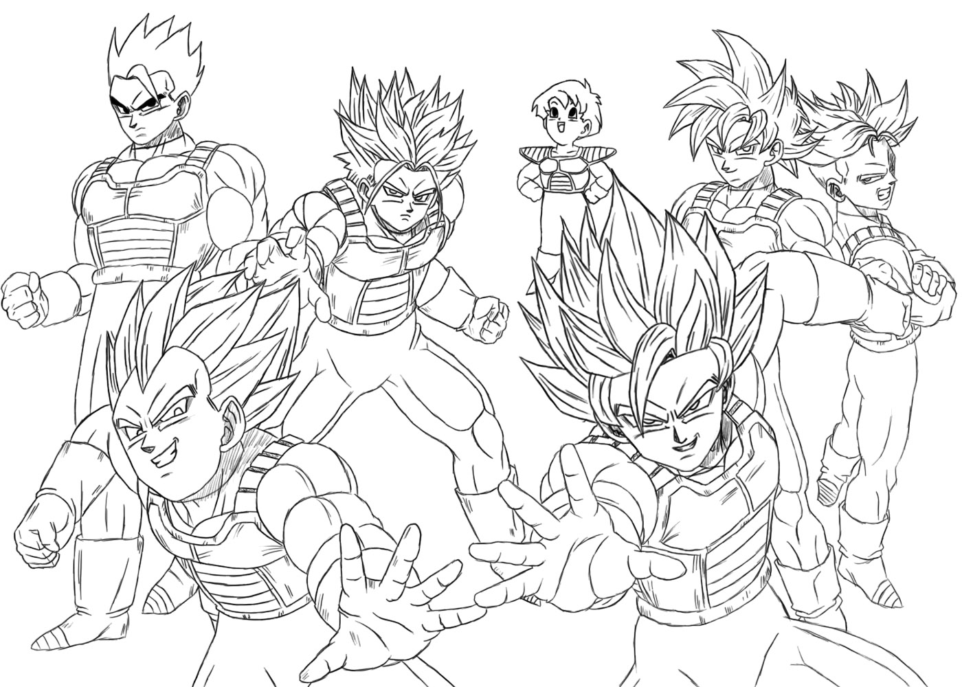 Dibujos realizados en paint dbz taringa for Dragon ball z vegeta coloring pages