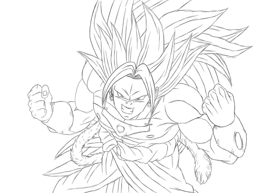 Goku Pequeño Para Colorear: SSJ3 Brolly By Gothax On DeviantArt
