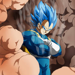 Vegeta  Ascended super saiyan god super saiyan  !!
