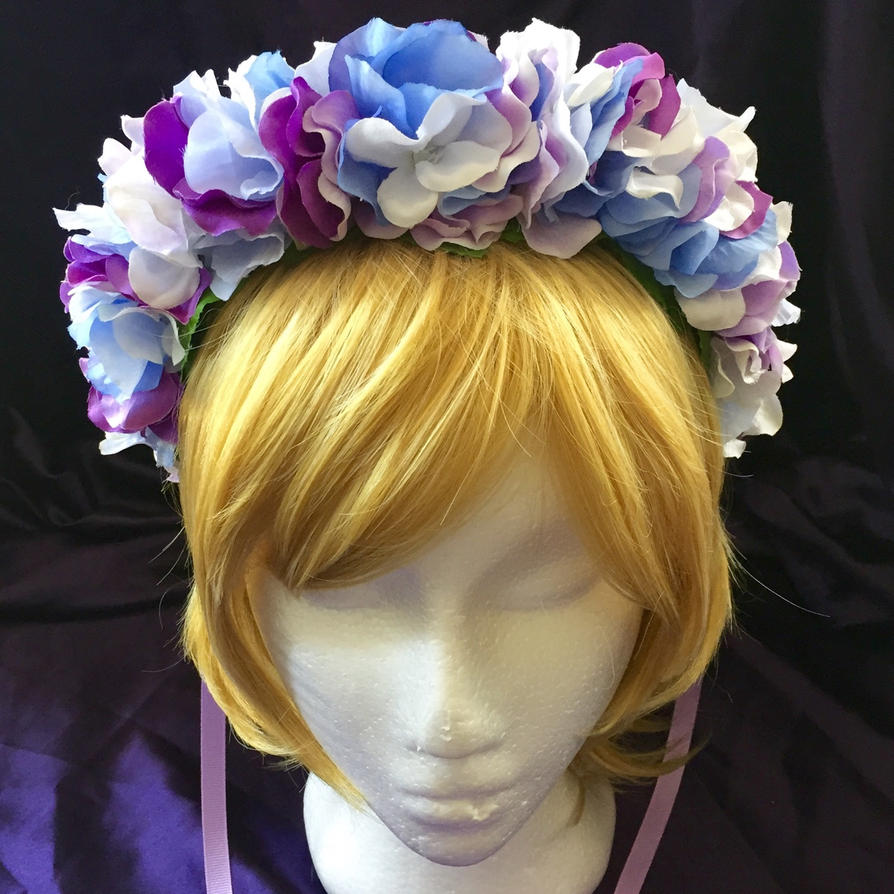 Blue And Purple Flower Crown By Et Designs On Deviantart