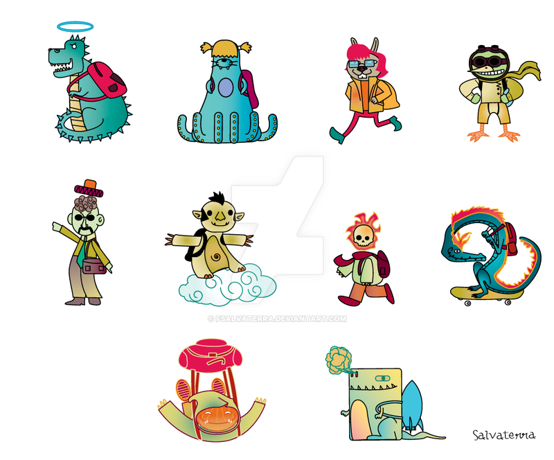 backpackers monsters by Fsalvaterra