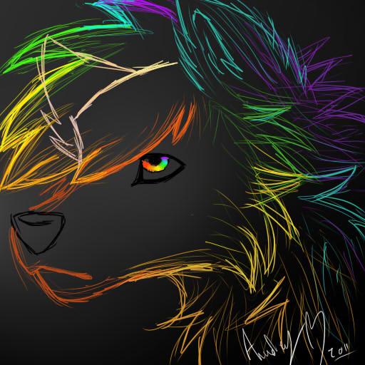 Rainbow Wolf By Atachi00 On DeviantArt