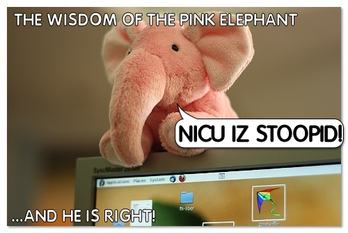 The Pink Elephant by nicubunu