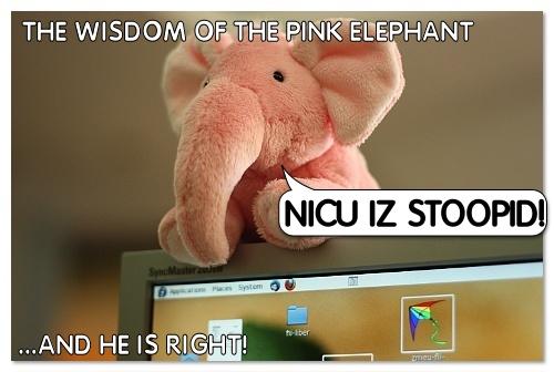 The Pink Elephant by nicubunu
