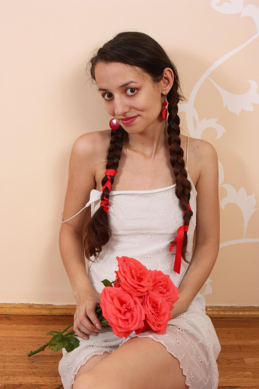 Shy roses