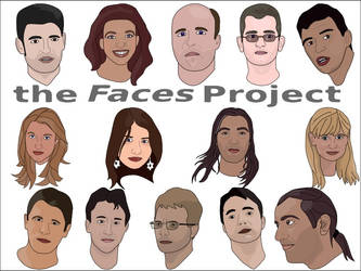 the 'faces' project by nicubunu