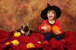 Little witch is having fun
