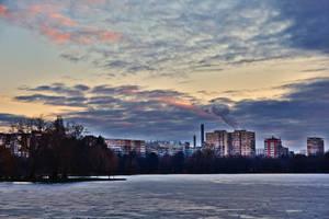 Winter in the city by nicubunu