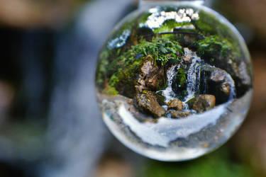 Waterfall in globe