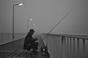 Hidden fisherman