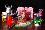 Bloody encounter of the Playmobil type by nicubunu