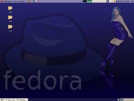 sexy blue - fedora