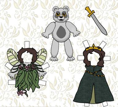 Bear Paper Doll 1 by rockafellow