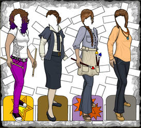 Muriel Professions, Hobby, and Casual Outfits by rockafellow