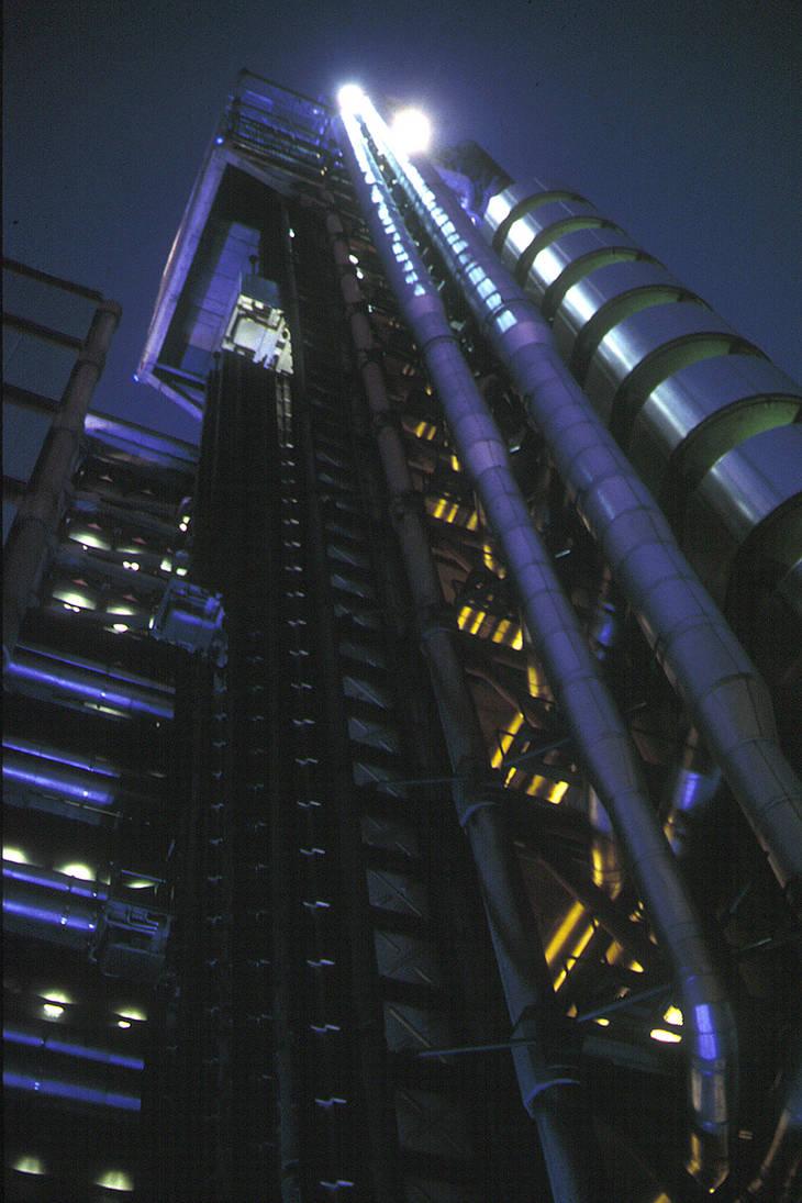 Lloyd's of London by night
