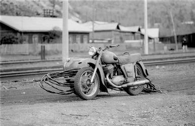 Russian Motorcycle by tonyspencer