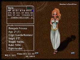 Chrono Cross: Marle Status by Rjenyawd