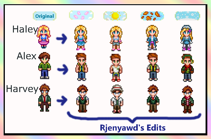 Stardew Valley Seasonal Characters Mod by Rjenyawd on DeviantArt