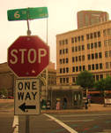 The City: Stop, One Way