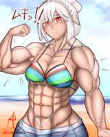Altera but she's in a swimsuit and alot buffer! by oneeris
