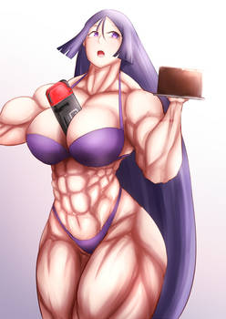 mama raikou with the cake and switch
