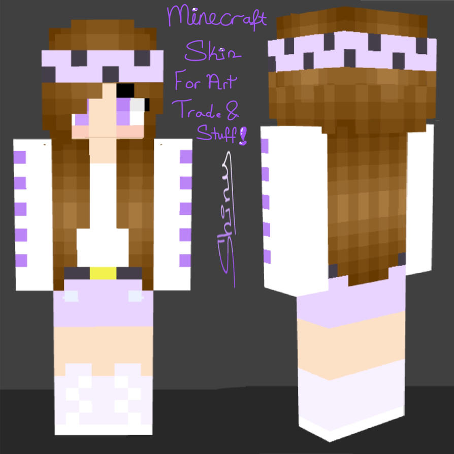 Minecraft Skin For Art Trade And Stuff! By ShinyGoldIngot
