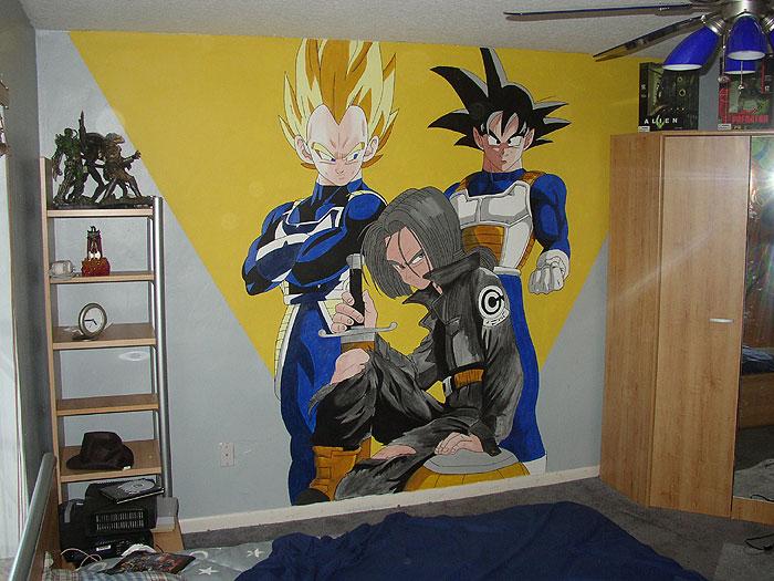 Dbz room mural 2 by talliah697788 on deviantart for Dragon ball z mural
