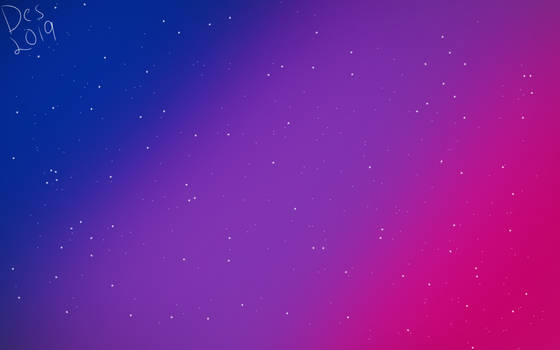 Bisexual pride flag galaxy by TheRedKitten