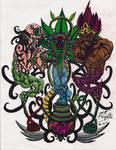 Hookah, Djinn, an Snake tattoo by mc-chapelle