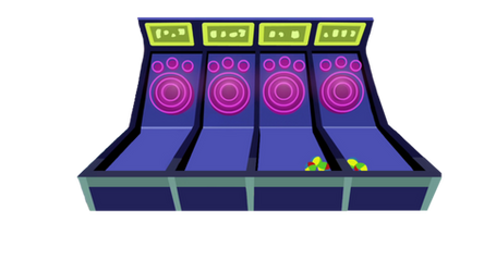 Viva Las Pegasus Skee Ball Game vector by BlueRav3Pony