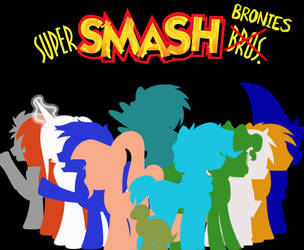Super Smash Bronies Title Card (Friends) by BlueRav3Pony