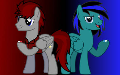 Red Pill vs Blue Pill by BlueRav3Pony